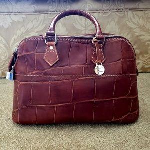 Dooney and Bourke Croc Embossed Leather Handbag